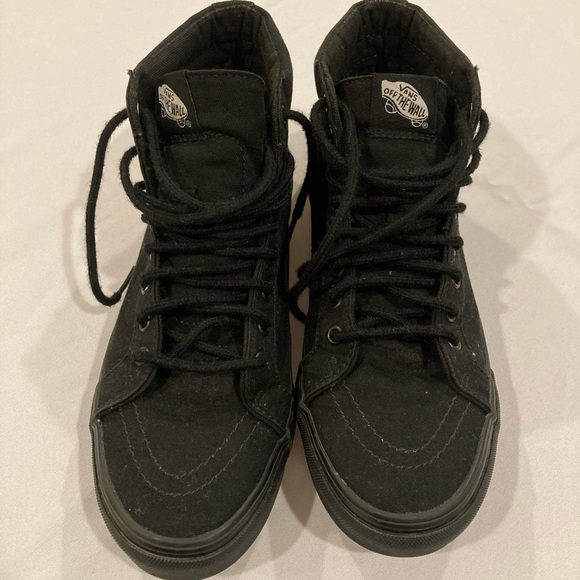 VANS OFF THE WALL HIGH TOP BLACK size 6.5 men